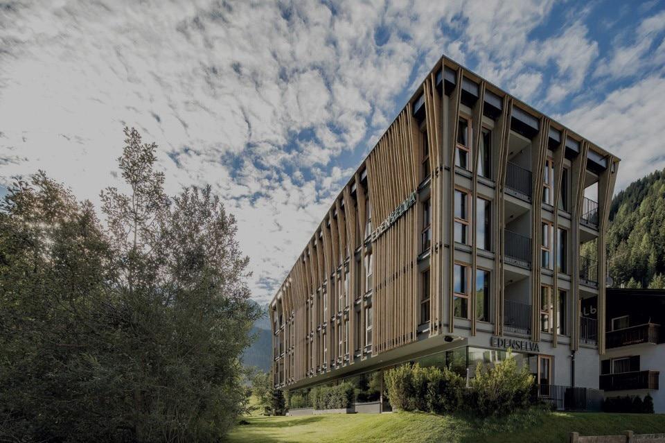 The heart of a clima hotel domus for Design hotel alto adige
