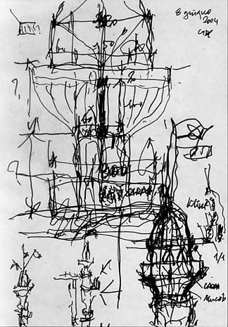 Studies of the towers to which Giancarlo De Carlo devoted himself almost obsessively even  in his last days of work