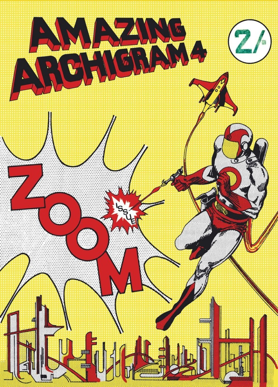 Warren Chalk, Archigram, Amazing Archigram cover of issue no. 4, 1954. © The Archigram Archives