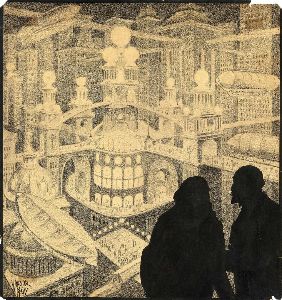 Winsor McCay, It is the city of Philyorgo by night, 1950 ca. Courtesy Galerie 9e art © DR