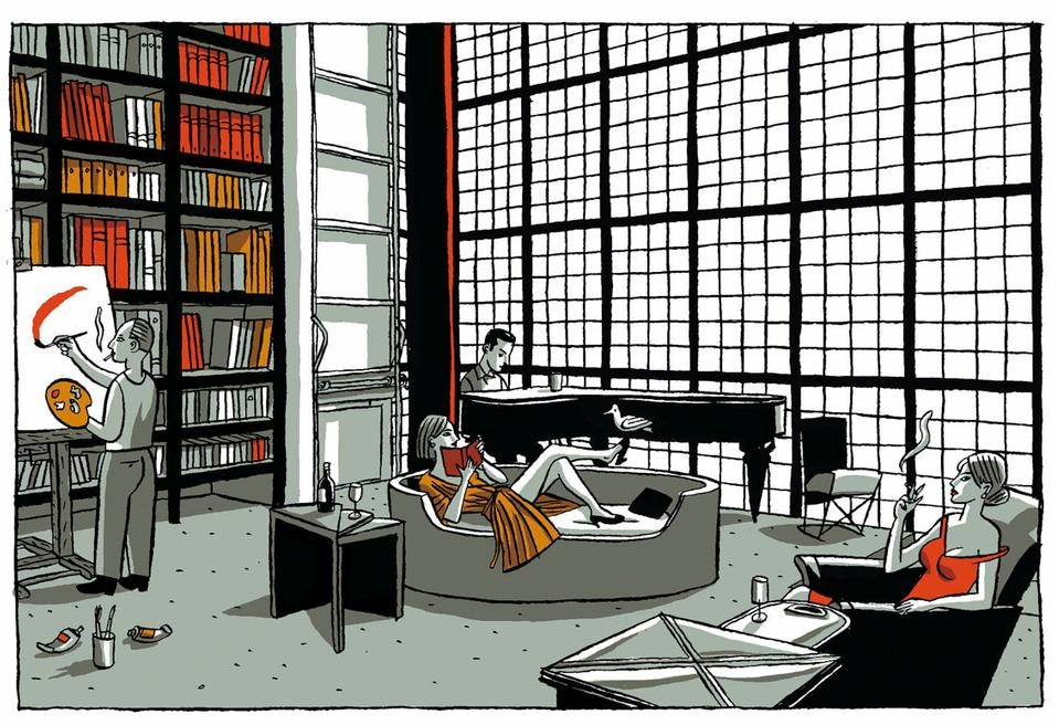 The city in the comics Maison de verre paris visite