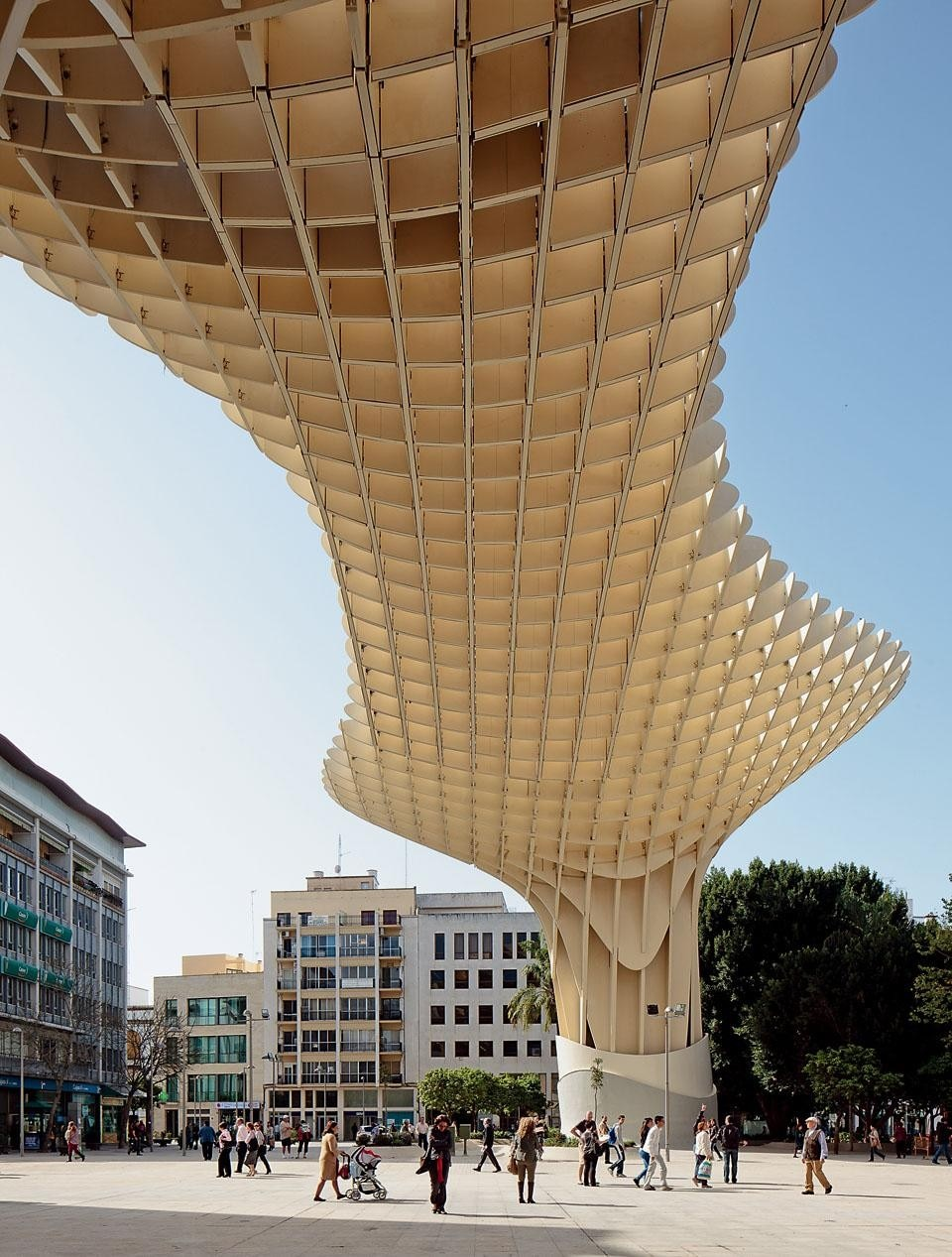 The frame is made of wood