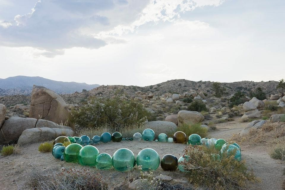 Artworks are dotted around