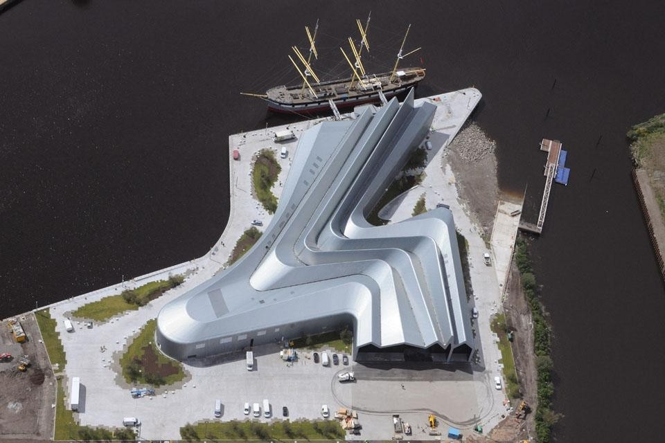 The Riverside Museum, Glasgow. Photo by Hawkeye Aerial Photography.