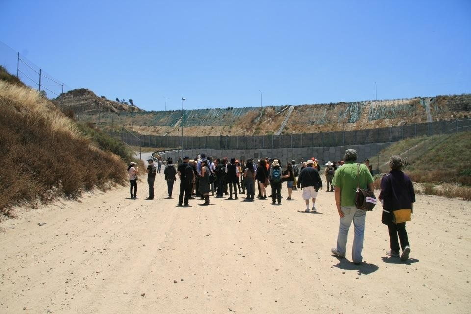 From Political Equator 3: Border-Drain-Crossing, June 4. Photo by Cynthia Hooper.