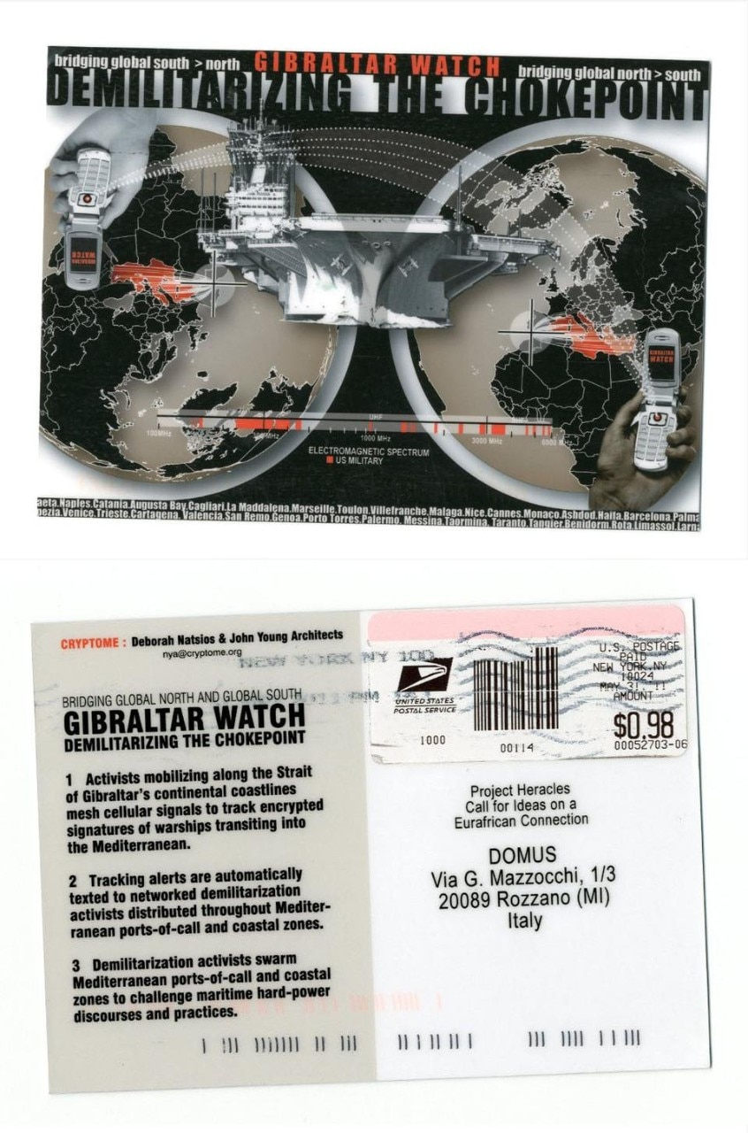 Gibraltar watch. Demilitarizing the chokepoint. Deborah Natsios & John Young Architects, Cryptome.org (USA).
