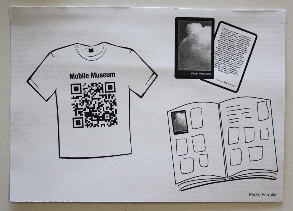 The museum T-shirt: with a QR code you can see the pictures of this mobile museum.