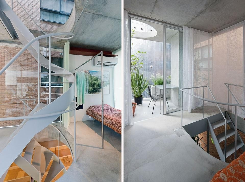 The house stands on a