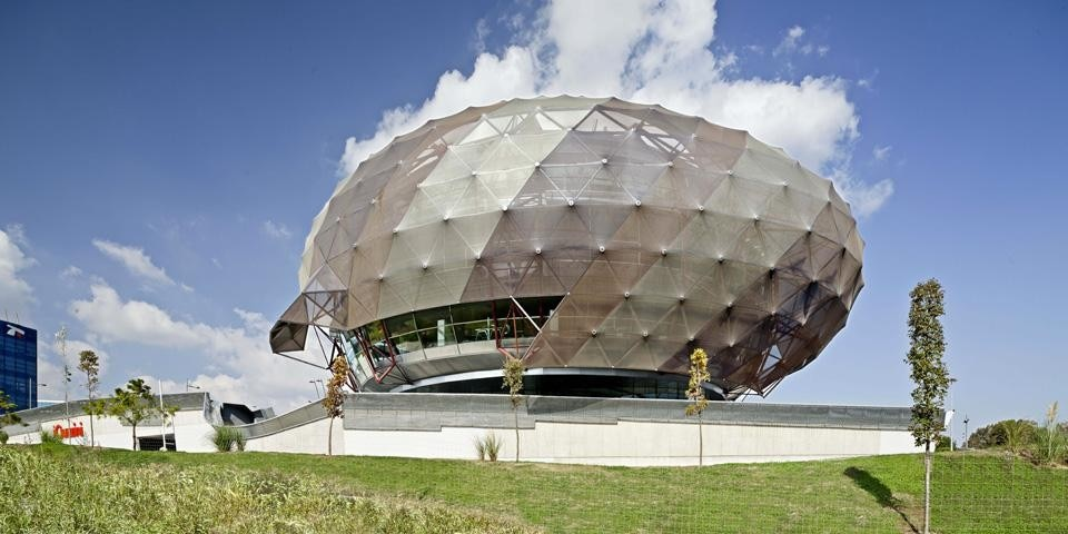 The second body of the building is a spherical