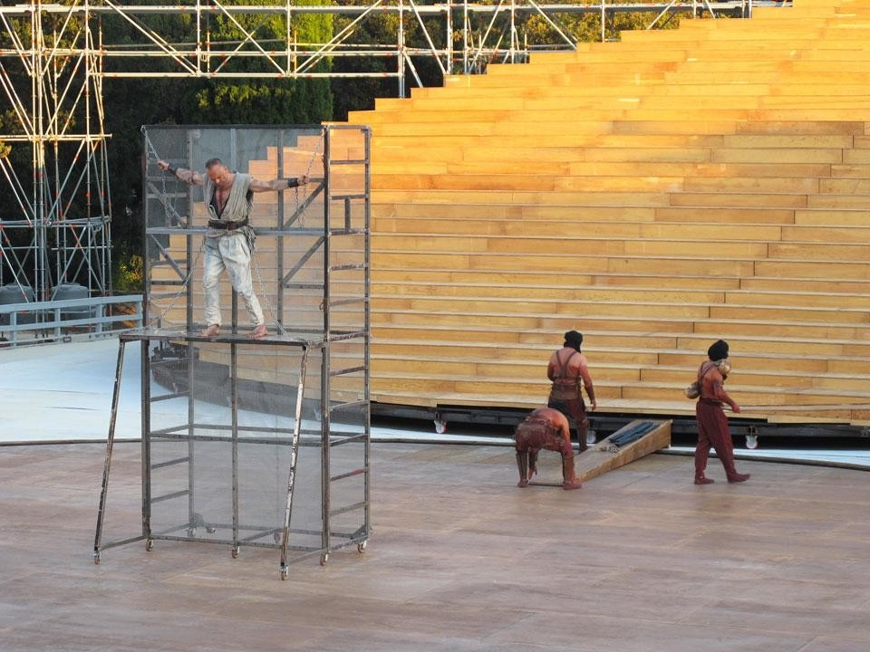 OMA, scenography for the classical play series 2012 at the Greek Theatre in Syracuse