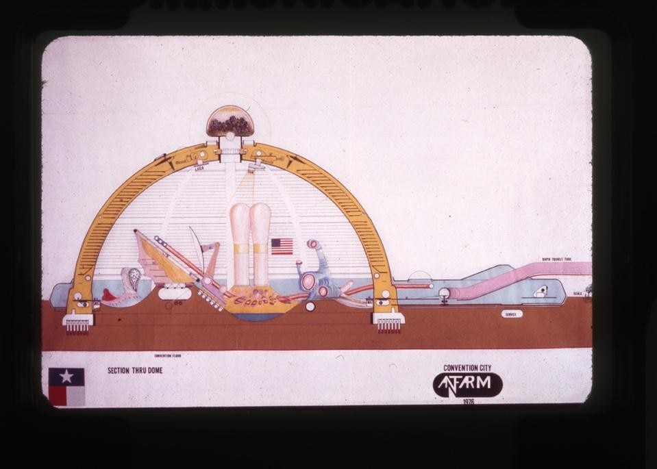 Ant Farm, <em>Convention City</em> 1976, 1972, printed 2012. © Ant Farm