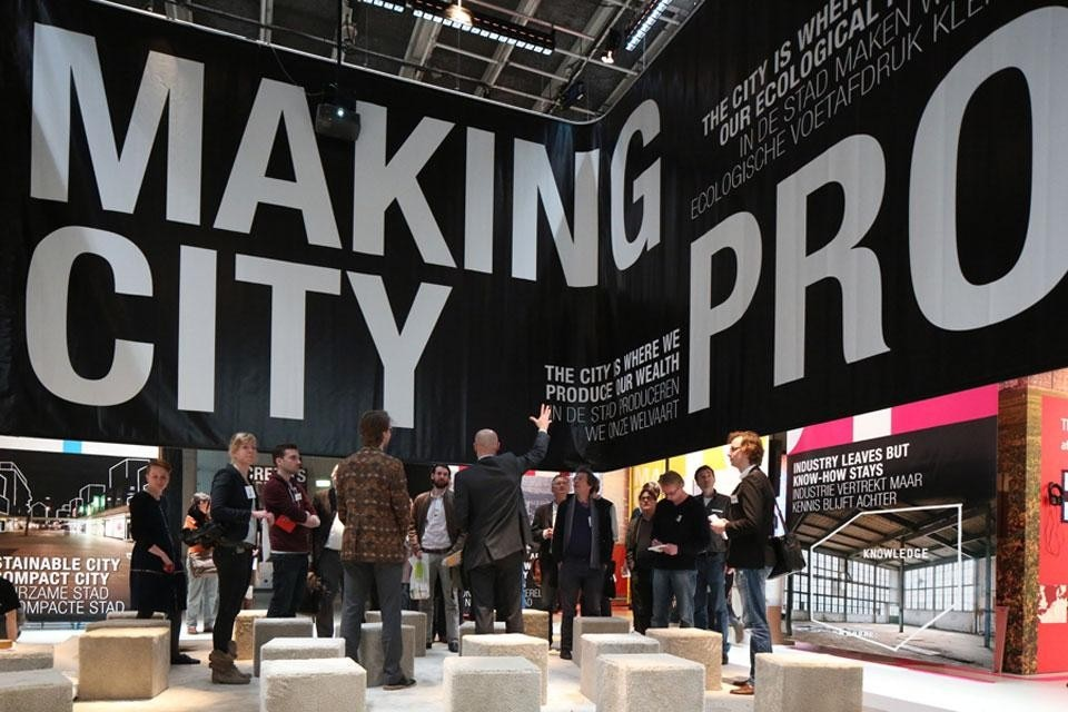Main exhibition of the 5th International Architecture Biennale in Rotterdam, <em>Making City</em> at the Netherlands Architecture Institute (NAi), installation view
