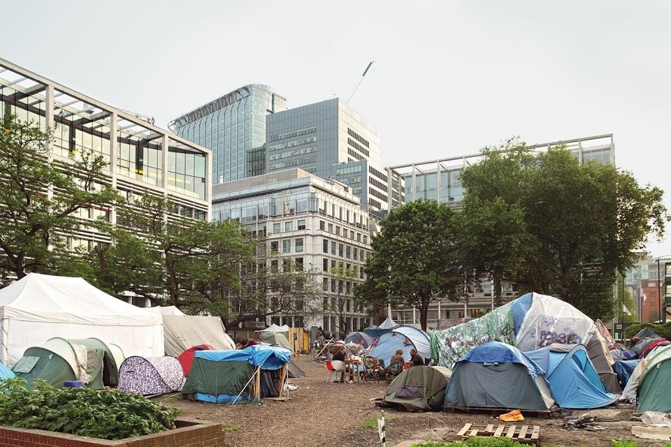 The Occupy camp in