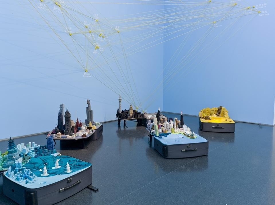 Installation view of Yin Xiuzhen's <em>Portable City</em>
