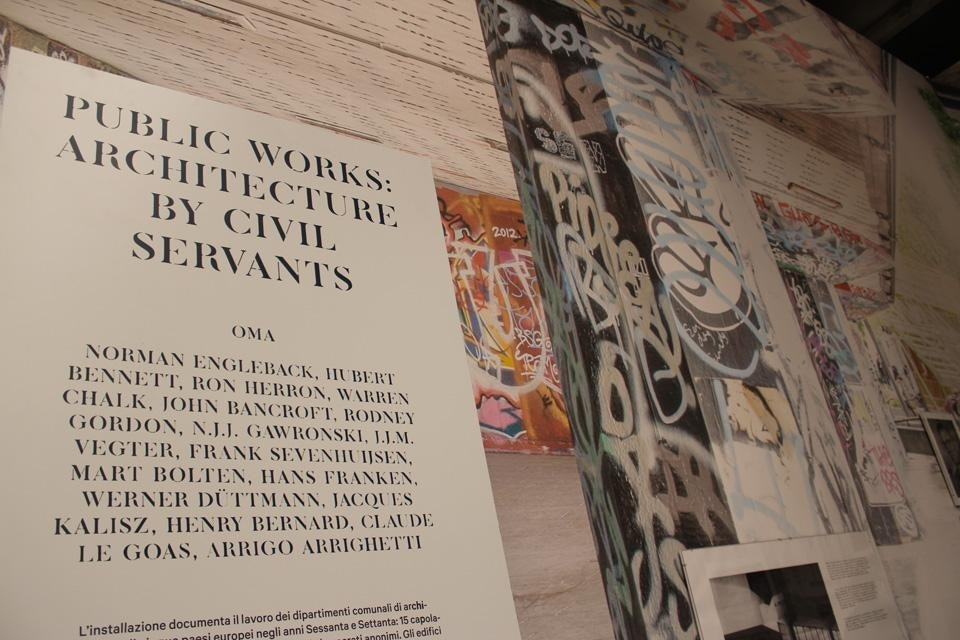 OMA, <em>Public Works: Architecture by Civil Servants</em>, installation view at the Giardini's Central Pavilion