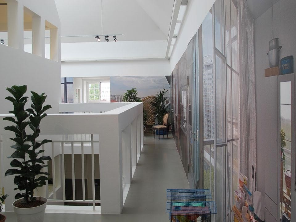 <em>DRUOT, LACATON & VASSAL – Transformation of a 1960s Residential Highrise</em> installation view at the Deutsches Architekturmuseum, Frankfurt