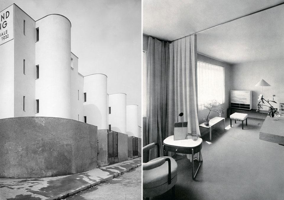 Left, Terrace houses by André Lurçat, 1932.