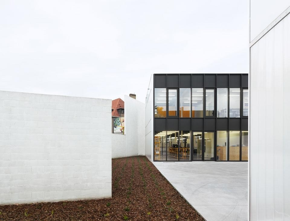 The outdoor patio of an