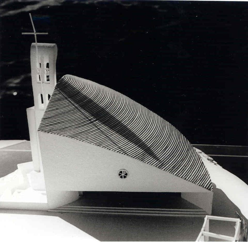 Nikola Bašic, model for Votive chapel of Our Lady of Mount Carmel, Okit, Vodice, 1993 - 1998