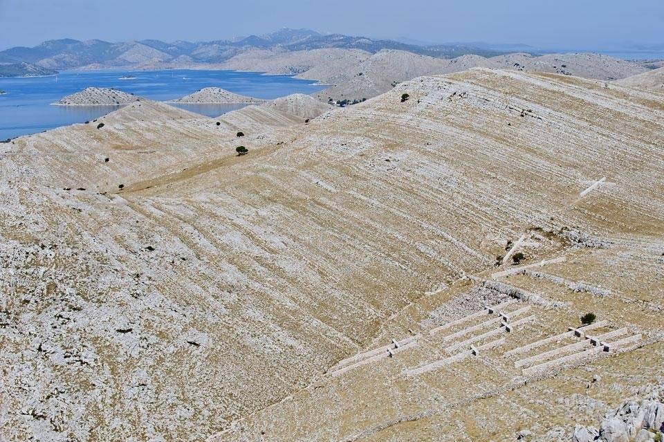 Nikola Bašic, <em>Field of Crosses</em>, Fallen Firemen Memorial, Kornati National Park, Kornat island, 2010