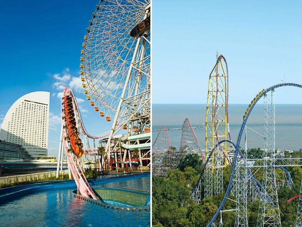 Left, The Vanish roller-coaster