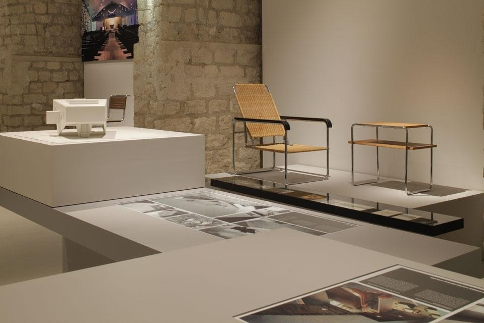 Top and above: <em>Marcel Breuer (1902-1981): Design & Architecture</em>, installation view at Cité de l'architecture & du patrimoine, Paris. Photo © CAPA/Gaston Bergeret, 2013