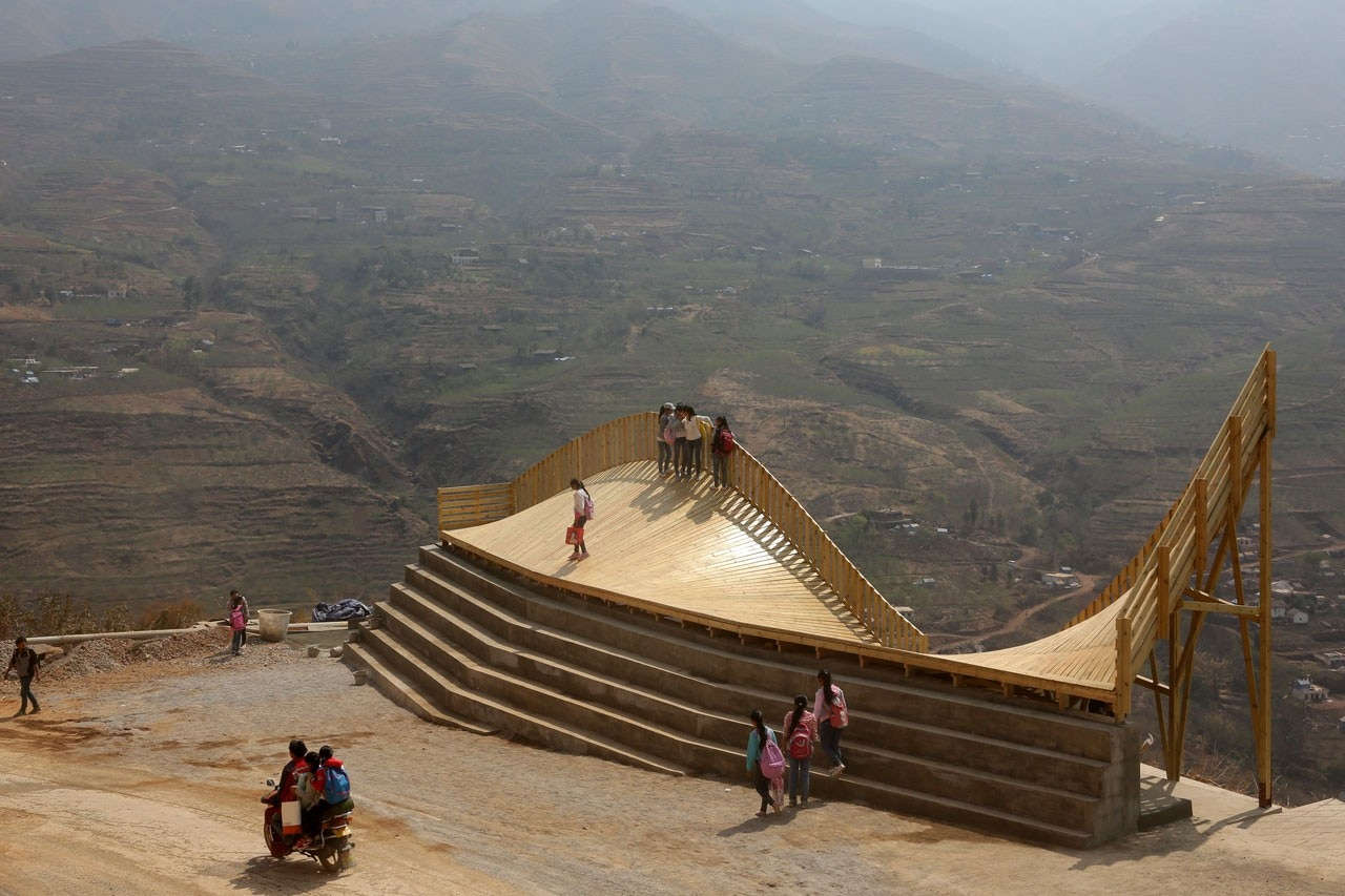 John Lin and Olivier Ottevaere, The Warp, Ludian town, Yunnan, China