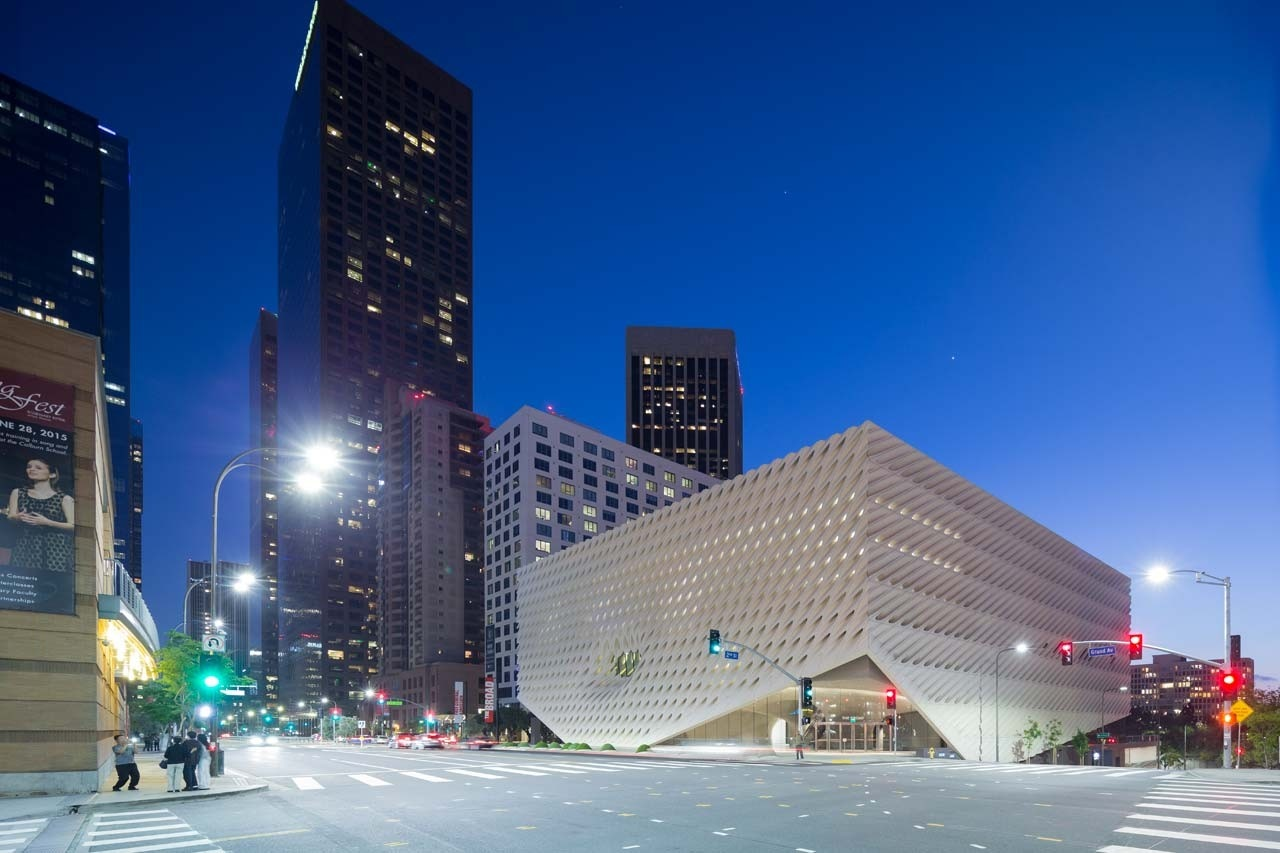 Diller Scofidio + Renfro, The Broad museum, on Grand Avenue in downtown Los Angeles. Photo by Iwan Baan, courtesy of The Broad and Diller Scofidio + Renfro