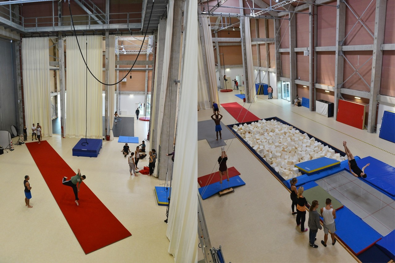 Circus school domus for Domus building cleaning