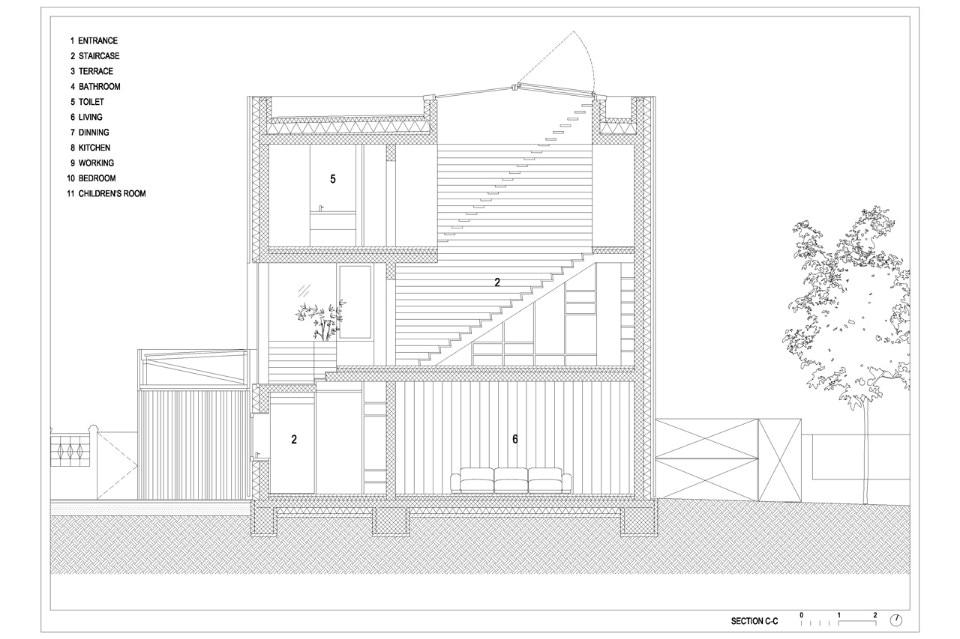 Villa criss cross envelope domus for Domus building cleaning