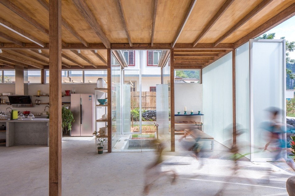 The south yard for Atelier 5 architecture