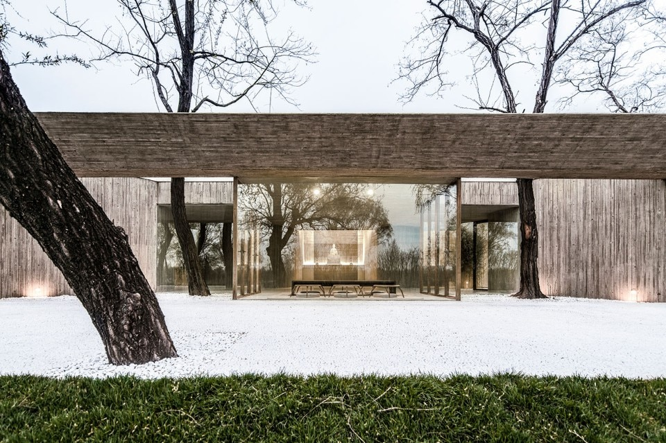 Archstudio, Waterside Buddist Shrine, Tangshan, Hebei, China, 2017