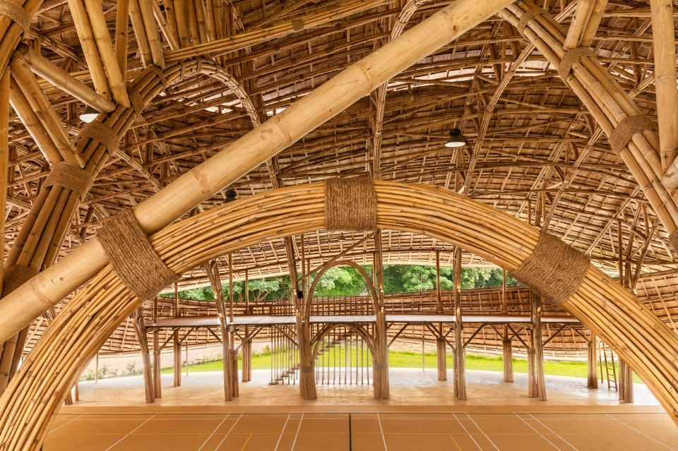 Bamboo Art Design : Bamboo sports hall domus