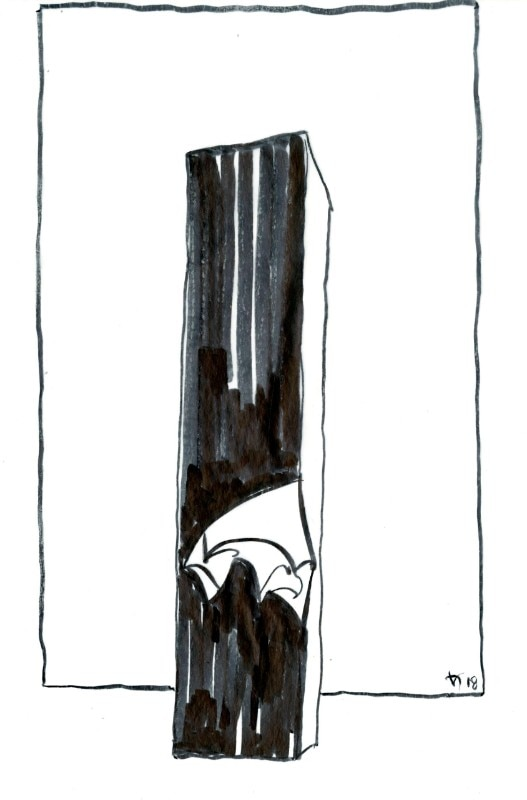Img. 38 Facing Gaia sketch, Daniel Libeskind