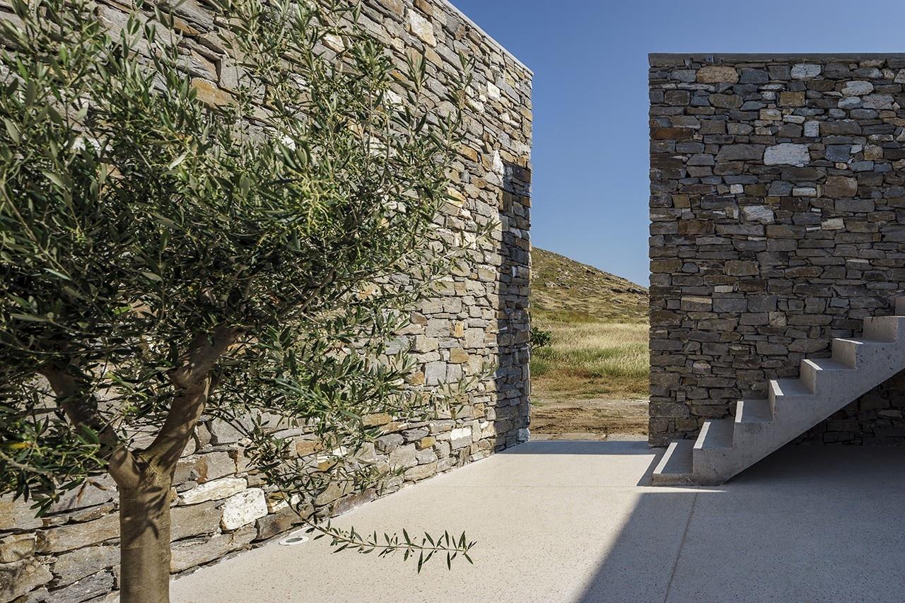 Paros. A summer house overlooking the Naoussa bay