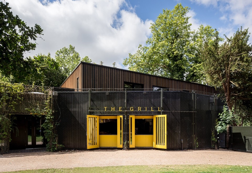 Reeds Watts Architects, rehearsal studios and catering kitchen for the Regent's Park Open Air Theatre, London, UK, 2018. Photo Simon Kennedy