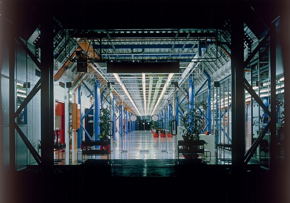 Inmos Microprocessor Factory. Photo Ken Kirkwood, courtesy RSHP, Rogers Stirk Harbour + Partners