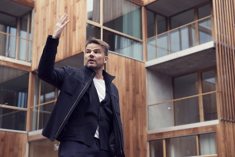 Bjarke Ingels of BIG at the opening of 79&Park, Stockholm, Sweden. Photo Karl Nordlund
