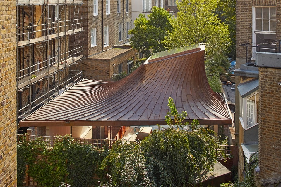 Copper Roof Funnels Sky Light Into London Home By Gianni