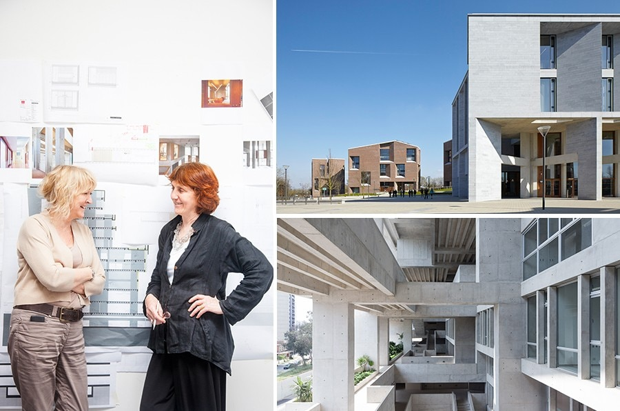 Yvonne Farrell and Shelley McNamara from Grafton Architects