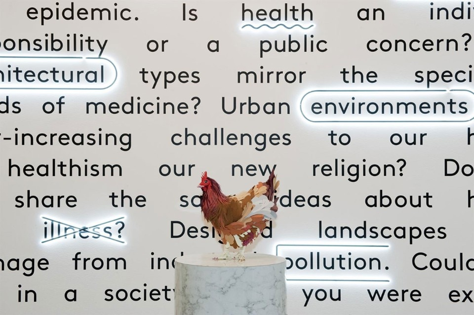 "Installation view of ""Imperfect Health: The Medicalization of Architecture"", an exhibition at the CCA curated by Giovanna Borasi and Mirko Zardini, 2011-2012. © CCA"