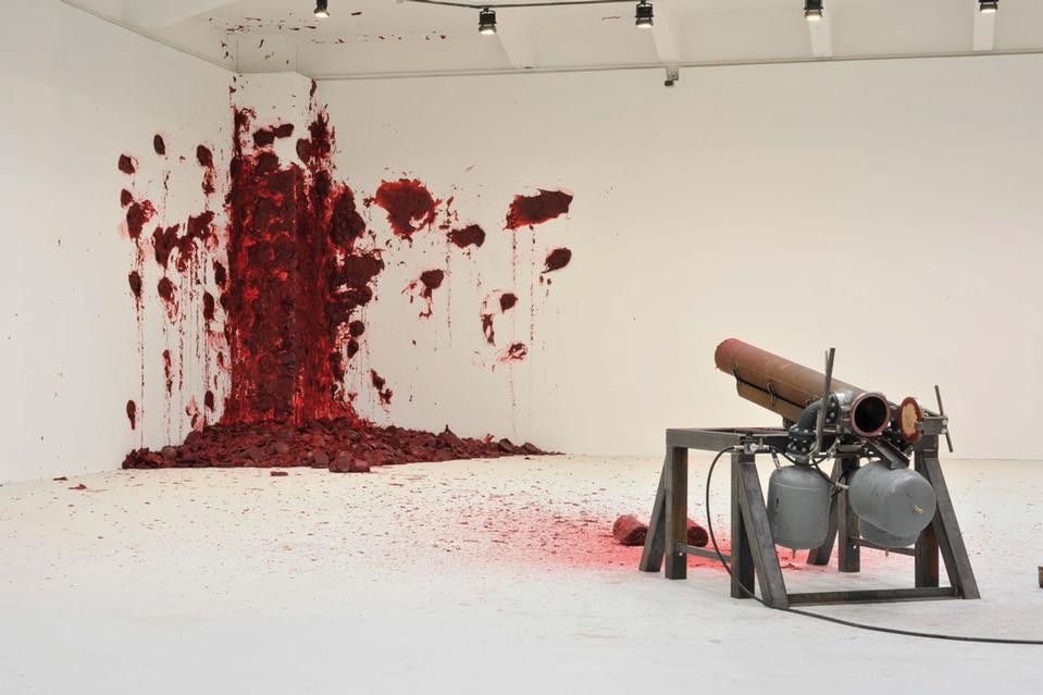 Anish Kapoor, Shooting into the Corner, 2009