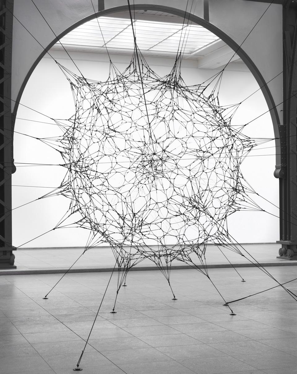 Tomás Saraceno, <i>Cloud Cities,</i> 2011. View of the installation at Hamburger Bahnhof. Photo Jens Ziehe.