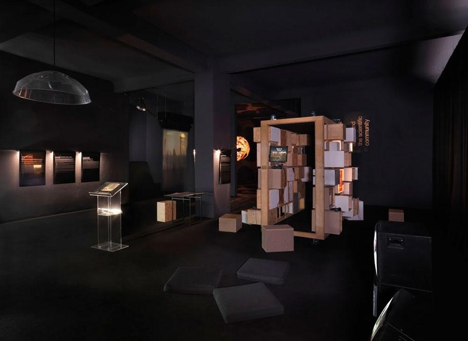 <em>The Future Archive</em>, installation view at the Neuer Berliner Kunstverein, 2012