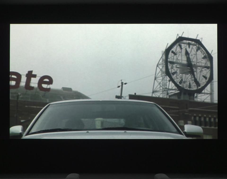 Christian Marclay, installation view of <em>The Clock</em>, 2010. Single-channel video with sound, 24 hours. © Christian Marclay, courtesy Paula Cooper Gallery, New York and White Cube, London
