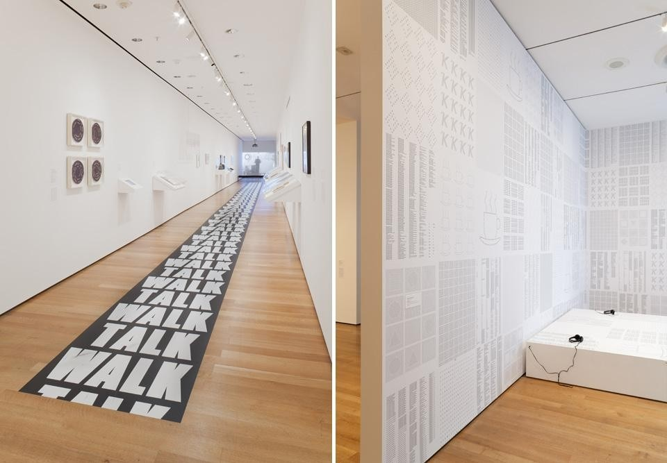 <em>Ecstatic Alphabets/Heaps of Language</em> installation view at the MoMA. © The Museum of Modern Art, New York