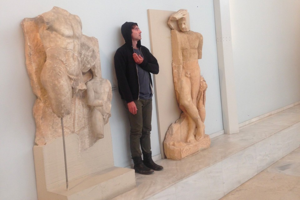 """Learning from Athens"". Pierre Bal Blanc, ""Collective Exhibition for a single body"""