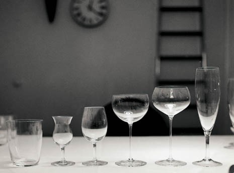 "Glasses at ""La casa abitata"" (Florence, 1965), redesigned for Alessi in 2001"