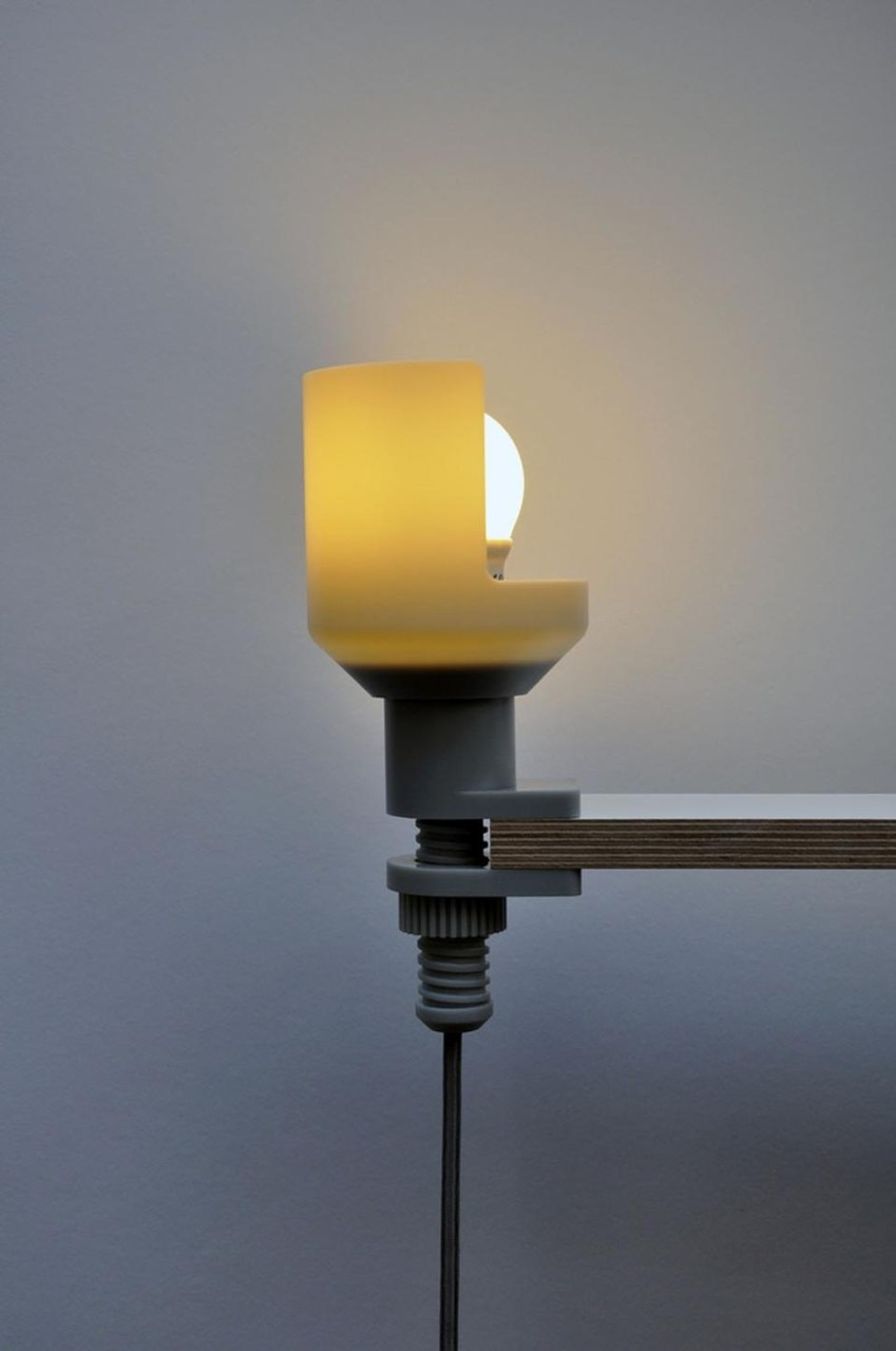 Clamp table lamp by Jon Harrison