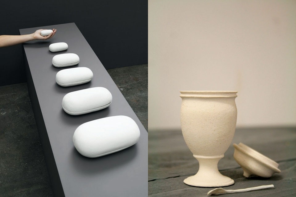 Left: Brigitte Coreman, <i>Coffins